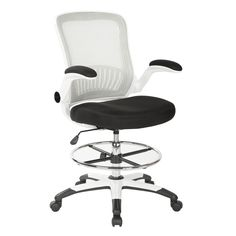 Office Star Work Smart Mesh Back Drafting Chair With Mesh Seat And Adjustable Footring