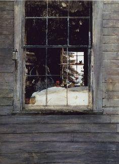 "laflaneuse8: "" Andrew Wyeth, Geraniums, 1960 """