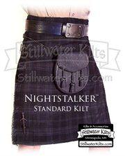 SWK-SK12-NS: Men's SWK Standard Kilt- SWK Nightstalker Tartan (2012 Model)