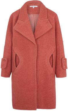 CARVEN Pink Pocket Detail Cocoon Coat @Lyst