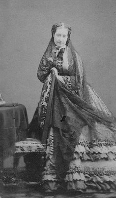Empress Eugenie of the French. Photographed by George Spingler.