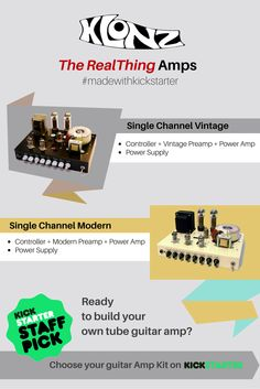 #Vintageamp or #Modernamp? Find out the #tones you can get with these 2 #amp modules on Kickstarter!