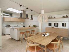 Light-filled family living, bulthaup by Kitchen Architecture Kitchen Dinning Room, New Kitchen, Kitchen Ideas, Kitchen Design, Rear Extension, Light Well, White Kitchens, Kitchen Inspiration, Wells
