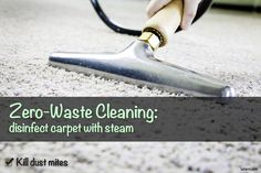 Desinfect your carpet with steam