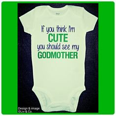 Godmother Baby Clothes Boys Godmother One by LivAndCompanyShop