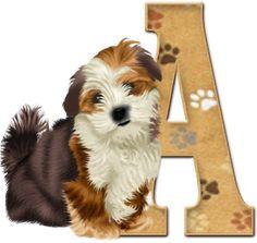 Alfabeto con lindo perrito.