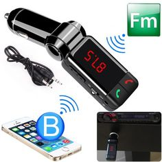 Wireless Bluetooth FM Transmitter MP3 Player Dual USB Car Charger Kit