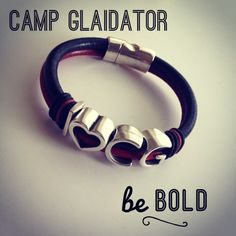 I Heart CG Leather Bracelet - Camp Gladiator | sophieboutique - Jewelry on ArtFire