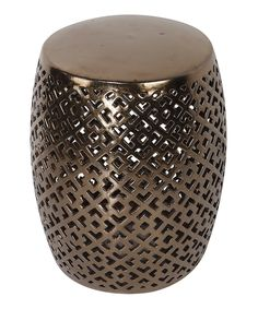 Another great find on #zulily! Bronze Geometric Garden Stool by A&B Home #zulilyfinds