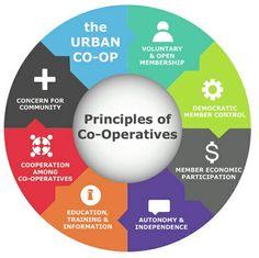 Principles of Co-Operatives Cooperative Principle, Love Garden, Cameras, Flare, Boss, Gardening, Education, Business, Illustration