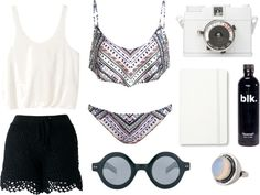 """Beach look"" by baludna ❤ liked on Polyvore"
