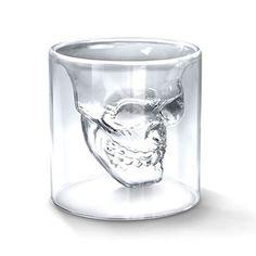 DOOMED SKULL GLASS - 飲み物を注ぐとドクロが現れるヘッドショット スカルグラス by Sincere Inc.