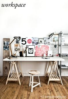 trestle table <3  Would make a great Art Studio space #creativespaces #creativeoffices #workspace