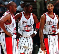 Charles Barkley, Hakeem Olajuwon and Scottie Pippen