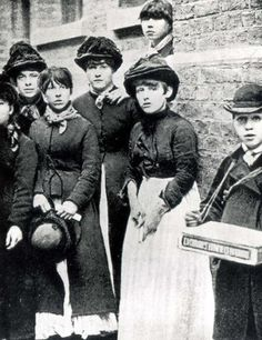 In 1888 these young match girls protested against Bryant & May, match manufacturers in London's East End. They suffered from Phossy Jaw caused by the chemicals  via The Ripper @The_East_End
