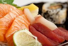 Mixed selection of sushi and sashimi. Sashimi, Restaurant, Eat, Ethnic Recipes, Drinks, Food, Drinking, Beverages, Diner Restaurant