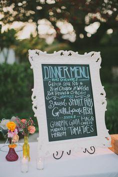 dinner menu http://www.weddingchicks.com/2013/09/16/malibu-beach-wedding/
