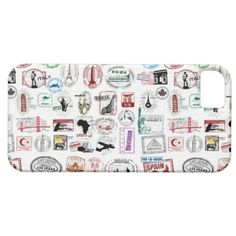 Travel Stamps Pattern Phone Case iPhone 5 Covers $41.85