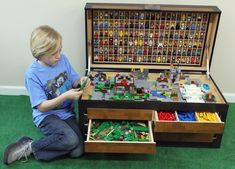 Christopher Gerding is raising funds for The Larscraft Maker's Chest, A Lego and Toy Storage Solution on Kickstarter! Help young minds build their ideas with a new product that shows children how organizing enables them to become better makers. Minecraft Room, Lego Room, Mosaico Lego, Legos, Toy Storage Solutions, Lego Craft, Toy Organization, Lego Organizing, Lego Storage