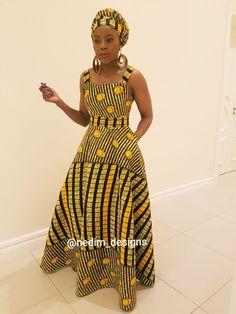Wedding Shweshwe Dresses for 2019 ShweShwe 1 Long African Dresses, Latest African Fashion Dresses, African Inspired Fashion, African Print Dresses, African Print Fashion, Africa Fashion, Moda Afro, Shweshwe Dresses, Style Africain