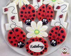 1 dozen Ladybug sugar cookies by SugarCookieWhimsy on Etsy