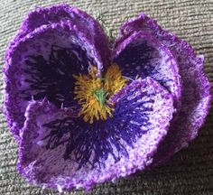 Machine embroidery pansy