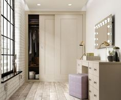 Smart storage tricks for small bedrooms: 'Freestanding furniture and bulky accessories can make a room feel cramped and untidy,' says Richard Hammonds of fitted furniture specialists Hammonds. 'Built-in storage offers a practical solution for belongings and opting for white furniture and adding mirrors to wardrobe doors opens up the room even more'. Sliding doors also free up valuable floor space. Find more inspiration at housebeautiful.co.uk