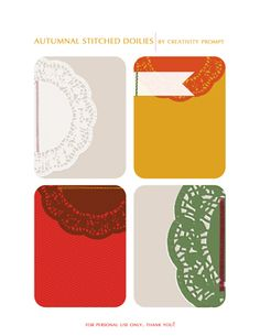 Free Printable    Autumnal Stitched Doilies by Creativity Prompt