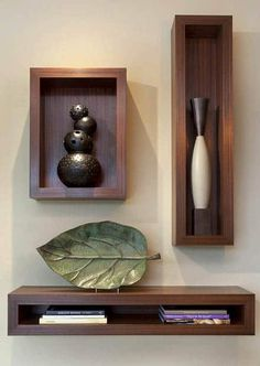 Functional & Stylish Wall Shelves Ideas That You Can Make By Yourself To Decorate Your Interior - Holzwand - Shelves in Bedroom Room Paint Colors, Paint Colors For Living Room, Living Room Decor, Dining Wall Decor Ideas, Paintings For Living Room, Diy Wand, Wall Shelves Design, Wood Wall Shelf, Corner Shelves