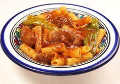 Recette Makarouna bel allouch (Macaronis à la viande d'agneau) de la cuisine Tunisienne