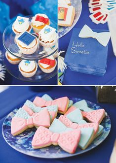 Fantastic Doctor Who Themed Baby Shower Hello Sweetie! Doctor Who Themed Baby Shower - Cyberman, Dalek, Tardis and Bow Tie Cookies - Jenny Wenny Cakes, and Photography by Melissa Biador Doctor Who Birthday, Doctor Who Party, Doctor Who Wedding, Doctor Who Baby Shower, Doctor Who Nursery, Baby Shower Parties, Baby Shower Themes, Shower Ideas, Shower Baby