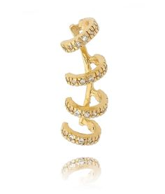 piercing de argolinhas semi joias dourado