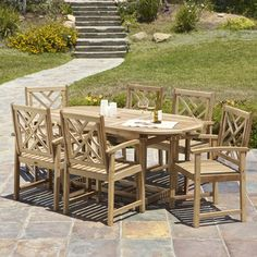@Overstock - For plenty of outdoor dining space, look no further than the Sunrise 7-piece Outdoor Wood Dining Set. Stylish enough for even indoor use. http://www.overstock.com/Home-Garden/Sunrise-Outdoor-Wood-Expandable-7-piece-Dining-Set/6765075/product.html?CID=214117 $799.79