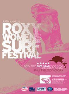 Roxy Womens Surf Festival Poster