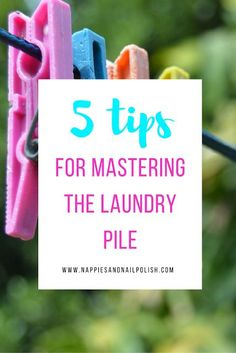 5 Tips For Mastering The Laundry Pile | Laundry Routine | Tips | Hacks | Homemaking | Cleaning | Chores