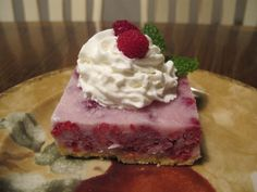 Lemon Raspberry Ice Squares Recipe for 5.5 WeihtWatchers Smart Points or 3 Winning Points