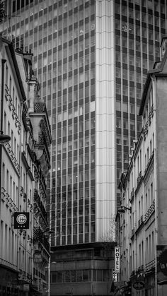 Neo Paris - Shot near the Montparnasse tower buiding.Paris, winter 2018.