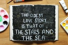 @laurenhooper | The stars and the sea | Creative Team Inspiration | Get Messy Art Journal