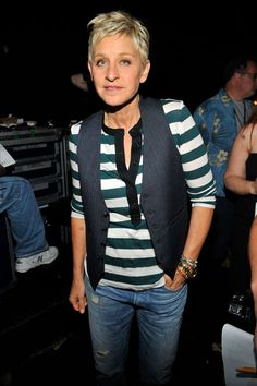 Ellen DeGeneres | Gay Icon | Dealt with the backlash of coming out on her sitcom, and then rose back to fame once America had settled sown and she regained confidence in the spotlight. I'm so glad she is back on T.V. Ellen is one of my favorite personalities of all time.