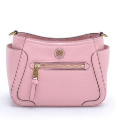 Loving this Pink Frances Leather Mini Crossbody Bag on #zulily! #zulilyfinds