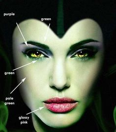 How to do Maleficent Makeup for Halloween Like a Pro! Maleficent Cosplay, Maleficent Makeup, Maleficent Halloween, Malificent Costume Diy, Maleficent Movie, Costume Halloween, Halloween Fun, Google Halloween, Wicked Witch Costume