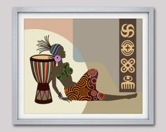 Cuadros africanos, mujer africana, arte africano, arte americano africano, africano diseño arte
