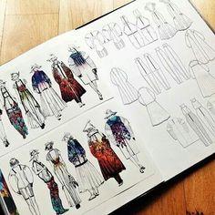Fashion art ideas sketchbook pages 69 Trendy Ideas Fashion Portfolio Layout, Fashion Design Sketchbook, Textiles Sketchbook, Portfolio Design, Illustration Mode, Fashion Illustration Sketches, Fashion Sketches, Illustrations, Fashion Books