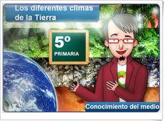 """""""Los diferentes climas de la Tierra"""" (Aplicación interactiva de Ciencias Sociales de Primaria)"""