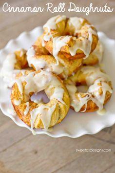 cinnamon roll doughnuts! These are SO delicious!