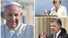 El Papa, Angela Merkel y Santos y Timochenko, favoritos al Nobel de la Paz