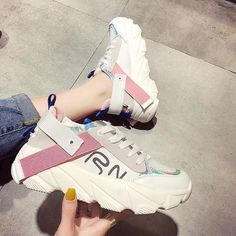 Women's Casual Shoes Fashion Shoes For Women Brand Outdoor Breathable Woman Trend Shoes Loafers New Zapatillas Mujer 2019 Sneakers For Women | Touchy Style Loafer Sneakers, New Sneakers, Girls Sneakers, Black Sneakers, Girls Shoes, Loafers, Womens Fashion Sneakers, Fashion Shoes, Casual Shoes