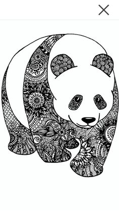 Panda Zentangle Más