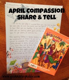 April Compassion Share & Tell - here is my latest mailing to my Compassion kids!