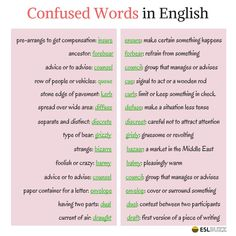Confused Words in English 2/3